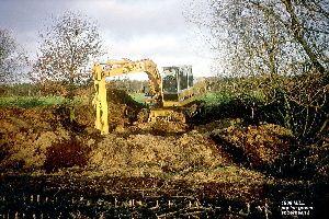 Graven 3 poelen nabij Koestraat aan oude spoordijk Mill 1988.jpg