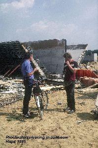 Rioolwaterzuivering Haps in aanbouw 1985.jpg